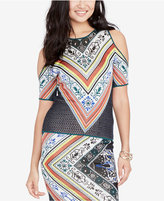 Rachel Roy Printed Cold-Shoulder Top, Created for Macy's