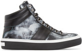 Jimmy Choo Black Storm Belgravia High-Top Sneakers