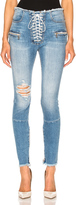 Unravel Stretch Denim Lace Up Skinny Jeans