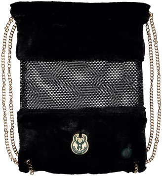 Milwaukee Bucks Mesh Gold Chain Drawstring Bag