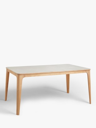Ebbe Gehl for John Lewis Mira Ceramic Top 6 Seater Dining Table, Oak/Light Grey