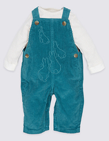 Marks and Spencer Pure Cotton Peter RabbitTM Bodysuit & Dungarees Outfit