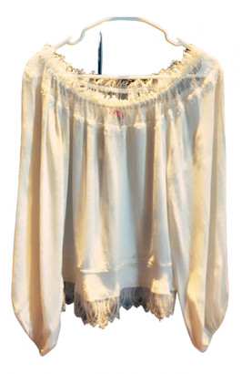 Tamara Mellon White Silk Tops