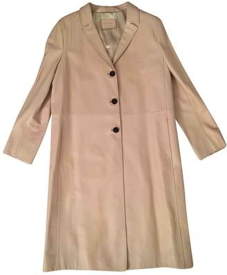 Prada Beige Leather Coat for Women