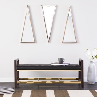 Marvelous Modern Leather Bench Shopstyle Andrewgaddart Wooden Chair Designs For Living Room Andrewgaddartcom