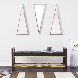 Mid-Century MODERN Southern Enterprises Holly & Martin Becka Upholstered Bench, Midcentury Modern Style, Black