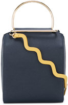 Roksanda wavy shoulder strap gold detail bag