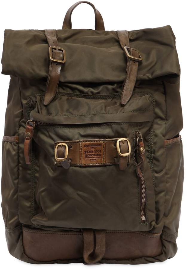 Campomaggi Nylon & Leather Backpack