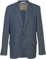 Brunello Cucinelli checked suit jacket - men - Silk/Linen/Flax/Wool - 48