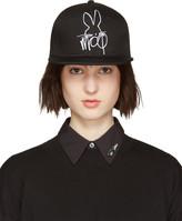 McQ by Alexander McQueen Black & White Logo Cap
