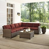 """Sangria Birch Laneâ""""¢ Heritage Lawson 6 Piece Sectional Seating Group with Cushions Birch Lanea Heritage Cushion Color"""