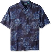 Cubavera Cuba Vera Men's Big-Tall Chest Pocket All Over Paisley Short Sleeve Woven Shirt