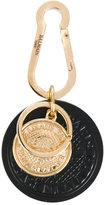 Balmain embossed coin keychain