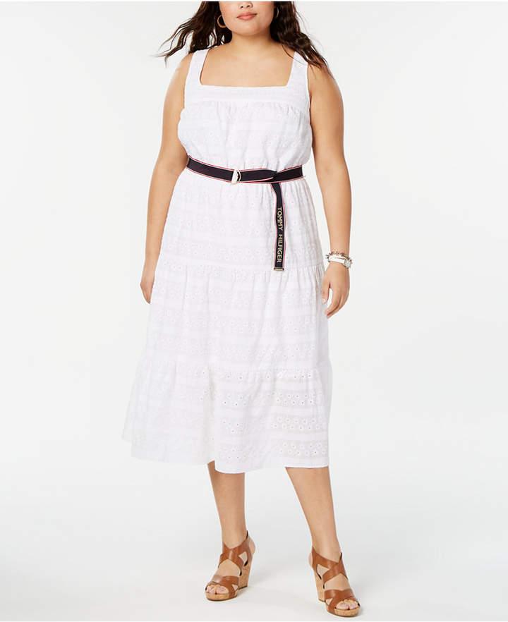 Plus Size Eyelet Dress - ShopStyle