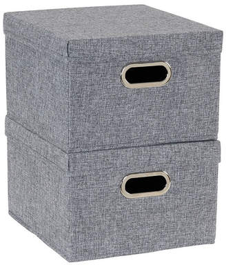 Household Essentials 2-Pc. Graphite Storage Box Set