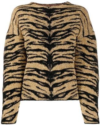 Laneus tiger-print jumper