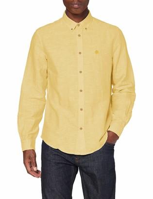 Springfield Men's Classic Linen Color-c/08 Casual Shirt