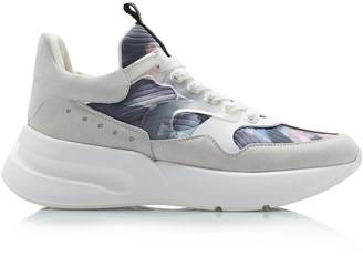 Alexander McQueen Suede, Mesh And Rubber Sneakers