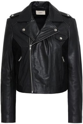 BA&SH Pacino Suede-trimmed Leather Biker Jacket