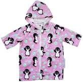 Back Beach Co Pink Penguin Hooded Towel Robe 0-24 mths