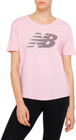 New Balance Heather Tech Short Sleeve Crew Tee