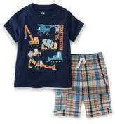 Kids Headquarters Construction Zone Two-Piece Tee and Shorts Set