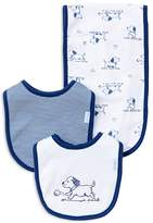 Little Me Infant Boys' Puppy Bib & Burp Cloth Set