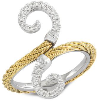 Alor Classique 18K & Stainless Steel 0.20 Ct. Tw. Diamond Ring