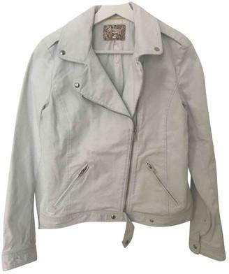 Bonpoint Blue Denim - Jeans Leather Jacket for Women