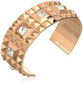 "Rebecca Rebel"" 18k Yellow Gold-Plated with Swarovski Crystals Cuff Bracelet"