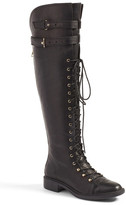 Joie Gryffin Lace-Up Knee High Boot