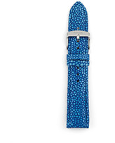 Fossil Leather 20mm Watch Strap - Blue