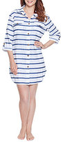 Dotti Tulum Strip Shirt Dress Cover-Up