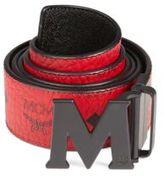 MCM Monogrammed Leather Belt
