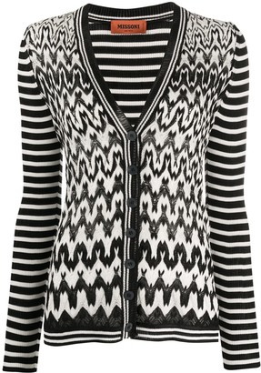 Missoni V-neck geometric knit cardigan