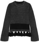 Proenza Schouler Tasseled Stretch-bouclé Sweater - Gray