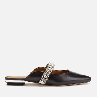 Kurt Geiger Women's Princely Leather Flat Mules - Black