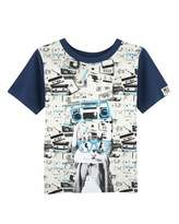 Andy & Evan Stretch Jersey Cassette Tape Tee, Light Beige, Size 2-7