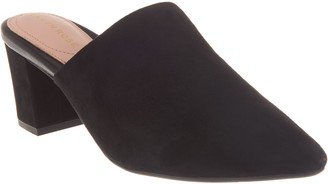Taryn Rose Leather Pointed-Toe Heeled Mules - Madisson