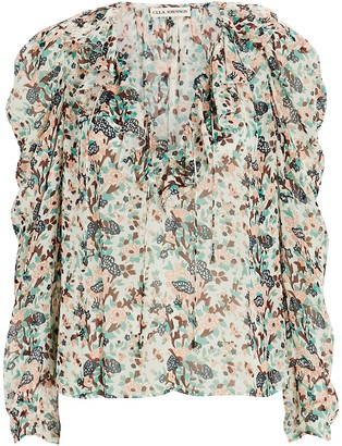 Ulla Johnson Astrid Floral Lurex Blouse