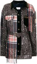 Maison Margiela patchwork fitted coat