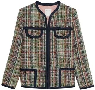 Sandro Paris Tweed Knit Jacket