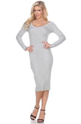 White Mark Women's Destiny Sweater Dress