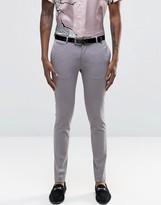 Asos Super Skinny Suit Pants In Grey
