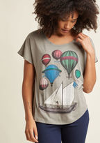 ModCloth Eye for Adventure Graphic T-Shirt in L