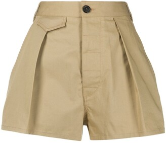 DSQUARED2 Front Pleat High-Waisted Shorts