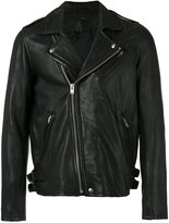 IRO biker jacket - men - Lamb Skin/Nylon/Acetate - S