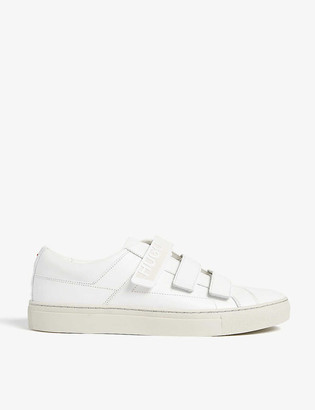 HUGO BOSS Logo leather trainers