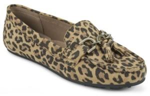 aerosoles leopard print loafers