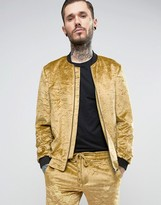 Noose & Monkey Crushed Velvet Bomber